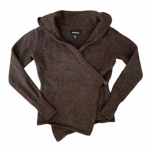 Betabrand Sweaters | Black Sheep Hooded Wrap Sweater Sm